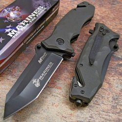 Usmc Marines Tanto Green G10 Tactical Rescue Pocket Knife