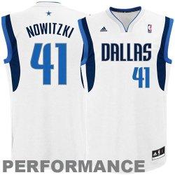 Nba Dallas Mavericks Dirk Nowitzki Youth 8-20 Replica Home Jersey, Medium, White