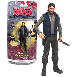 Mcfarlane Toys Year 2013 The Walking Dead Series 5 Inch Tall Action Figure - The Governor Phillip Blake With Removable Head And Arm, Gun, Katana Sword And Knife