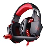 Bengoo Gaming Headset Comfortable 3.5mm Stereo Over-ear Headphone Headband with LED Lighting for PC Computer Game With Noise Isolation & Volume Control(Not Support PS4/XBOX360)