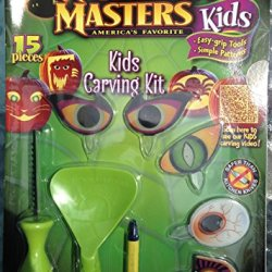 Pumpkin Masters® Kids Pumpkin Carving Kit: 15 Pieces Safer Than Kitchen Knives