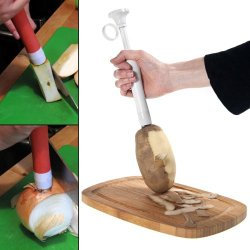 Prep N' Pop Vegetable/Potato Helper - Fork Pierce Hold, Peel Slice Chop, Release