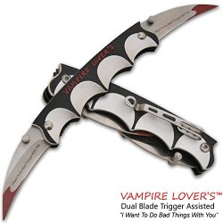 Vampire Lover'S Trigger Assisted Dual Knife