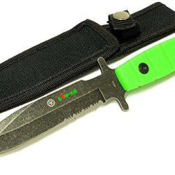 "9"" Zomb-War Hunting Knife Stainless Steel With Stone Washed Blade"