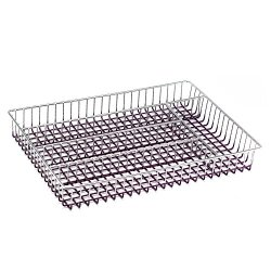 Deluxe Chrome-Plated Steel Mesh 5-Part In-Drawer Utensil Organizer (Purple)