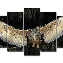 5 Piece Wall Art Painting Wings Owl Pictures Prints On Canvas Animal The Picture Decor Oil For Home Modern Decoration Print For Kids Room