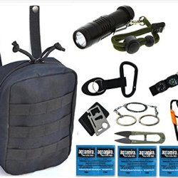 Vas Black Ops Survival Pack 2 With Survival Fire Starter, Whistle, Saw & 11N1 Survival Tool Plus Aquamira Water Purication Tablets & More