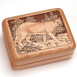 "3X4"" Box With Money Clip/Pocket Knife - Mountain Lion"