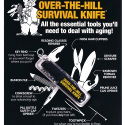 Design Sense Over The Hill Survival Knife