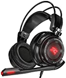 Sentey GS-4730 Virtual 7.1 USB DAC Gaming Headset Arches with Vibration Intelligent Gaming Headphone with In-line Control, Black