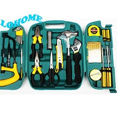 Lohome (Tm) Hardware Compact Screwdriver And Socket Precision Tools 27 Piece Mechanics Emergency Tools With Secure Storage Case Both Home And Outside
