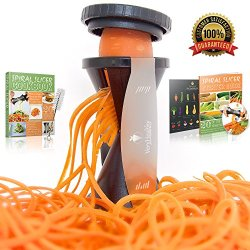 Very Healthy Spiral Vegetable Slicer, Zucchini & Carrot Veggie Pasta Maker