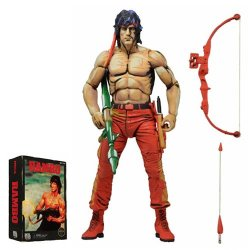 """Neca Rambo 7"""" First Blood Part Ii Action Figure (Classic Video Game Appearance)"""