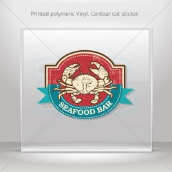 Decals Decal Seafood Bar Car Door Hobbies Waterproof Racing Durable Racing M (12 X 8.44 In)