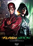 "The Flash And Arrow Fabric Cloth Rolled Wall Poster Print -- Size: (17"" x 13"")"