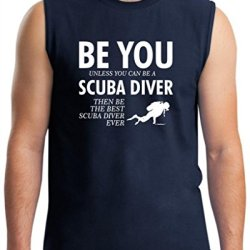 Be You Unless You Can Be A Scuba Diver Funny Sleeveless T-Shirt 2Xl Navy