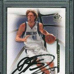 Mavericks Dirk Nowitzki Signed Card 2008 Sp #65 Slabbed - Psa/Dna Certified - Nba Slabbed Vintage Cards
