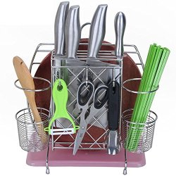 Stainless Steel Multi-Function Knife, Cutting Board Rack, Chopsticks Cage, Chopsticksholder, Kitchen Storage Racks