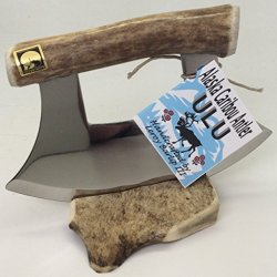 Alaskan Polished Caribou Antler Ulu Knife Petite Handle