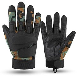 E-Prance Wear-Resisting Full Finger Military Tactical Gloves For Light Assault Military Combat Army Shooting Color Black Size L