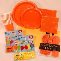 Sunshine Collection - Orange And Yellow - Party Supply Pack For 12