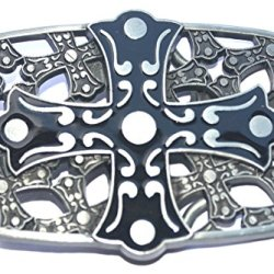 Western Gothic Cross Enameled Nice Belt Buckle Wt-061As