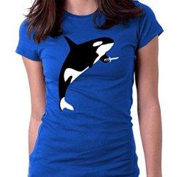Killer Whale Joke Word Play - Womens Tee T-Shirt, Small, Royal Blue