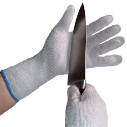 Handarmour Cut Resistant Safety Gloves Size: Medium Ce Level 5 Protection 2 Gloves Color: White