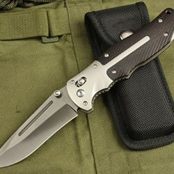 Charm Outdoor Survival Camping Pocket Folding Wood Handle Knife 312-9.25''