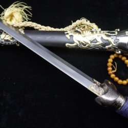 Chinese Xuanwu Sword Sale/Folding Steel Blade/Handmade/Two-Color Alloy Fittings