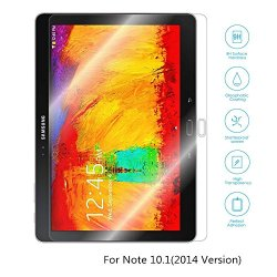 Boriyuan 2014 Version Note 10.1 Screen Protector, [Tempered Glass Protection] Ultra Slim Crystal Clear Premium Tempered Glass Screen Protector For Samsung Galaxy Note 10.1 2014 Edition P600 - Brand New In Retail Package, Comes With A Micro Fiber Cleaning