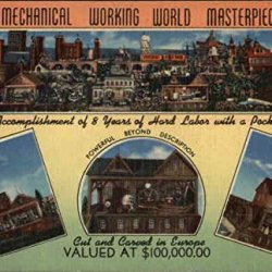 Dic Dillon'S Mechanical Working World Masterpiece In Wood Original Vintage Postcard