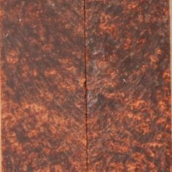 """Bronze Inlace Acrylester #07 W Eyes 2 Pc Knife Scale 1/4""""X1 1/2""""X5"""" E01"""