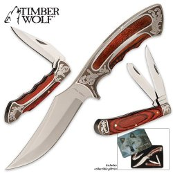 Timber Wolf Trophy Master Hunter Set In Tin