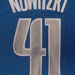 Dirk Nowitzki Dallas Mavericks Autographed Blue #41 Jersey