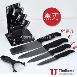 Wholesale 4 Inch 5 Inch 6 Inch 6 -Inch Kitchen Knife Melon Planer Block Set Black Ceramic Knife Blade Ceramic Knife Liu Jiantao