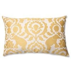 """18.5"""" Babar Elegance Topaz Yellow Rectangular Decorative Throw Pillow"""