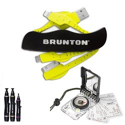 Brunton Truarc 15 Global Compass F-Truarc15 + Power Knife Multi Charger, Usb Micro, Apple Iphone 4, 4S, 5, 5S, 6, And 6 Plus Tips