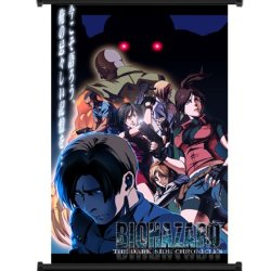 """Resident Evil The Darkside Chronicles Game Fabric Wall Scroll Poster (16"""" X 26"""") Inches"""