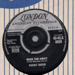 """Bobby Darin Mack The Knife / Was There A Call For Me 7"""" Vinyl"""