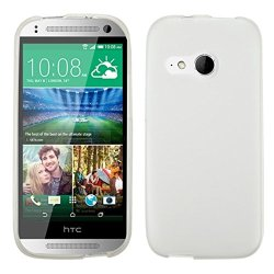 Mybat Rubberized Candy Skin Cover For Htc One M8 Mini - Retail Packaging - Semi Transparent White