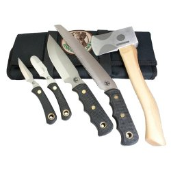 Knives Of Alaska 00252Fg Super Pro Pack Combo Set, Black/Tan