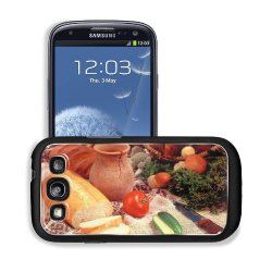 Cucumber Bread Tomato Baked Goods Herbs Knife Samsung I9300 Galaxy S3 Snap Cover Case Premium Aluminium Customized Made To Order Support Ready 5 3/8 Inch (136Mm) X 2 7/8 Inch (73Mm) X 7/16 Inch (11Mm) Liil Galaxy_S3 Professional Cases Touch Accessories Gr