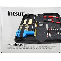 Intsun® Practical Watch Tool Set With Watch Back Case Opener Puncher 8-25Mmwatch Stainless Steel Spring Bar(19Piece)