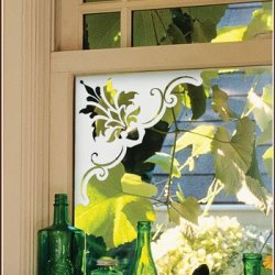 Doral Corner - 4 Each Accents Etched Glass Window Film