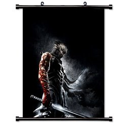 """Ninja Gaiden Videogame Fabric Wall Scroll Poster (16"""" X 17"""") Inches"""