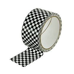 Black And White Checkered Duct Tape - 10 Yards - Add A Little Color - Great For Arts And Crafts