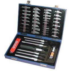Kr Tools 19100 Pro Series 52-Piece Modeling Knife Set