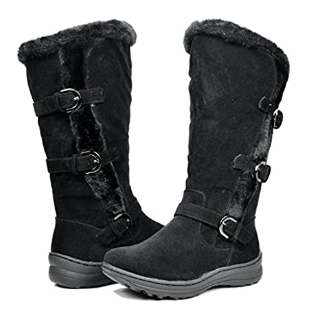 This tall boot is lined with a faux shearling that is soft against the skin and traps heat to keep you warm and comfortable! Featuring faux fur lining, faux suede upper, round toe, flat heel, stitching detail, padded collar, and finished with lightly...