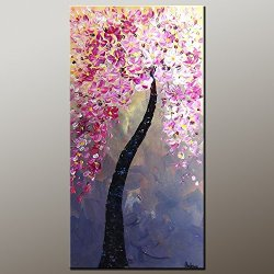 Large Painting Original Painting Oil Painting Flower Tree Painting Contemporary Artwork Modern Art Canvas Art Impasto Texture Palette Knife Oil Painting Impressionism Wall Art Canvas Painting